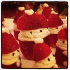 Little strawberry Santas! :)
