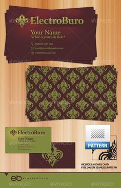 Buy Ultimate Pattern Two by Electroburo on GraphicRiver. Includes a FREE photoshop seamless pattern. All info easy to amend – colours can change with ease as they are . Vintage Business Cards, Print Templates, Card Templates, Free Photoshop, Layer Style, Vintage Designs, Retro Vintage, Business Card Design, Card Sizes