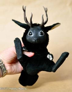 Black baby jackalope.  I think I've found my family's new mascot!!  :-)