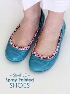 How to spray paint and decoupage your shoes. @Shannon Bellanca Madigan (Madigan Made)