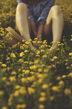 With your feet in the flowers