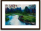 Art of Silk ~ Hand Designed Silk Art, Silk Embroidery - Guilin Spring $119.99