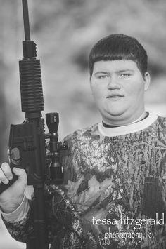 Senior portrait. Gun. AR-15.