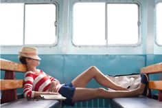 Vacation look: stripes, shorts, espadrilles Mode Style, Style Me, Navy Style, Denim Style, Shoes Style, Style Blog, Simple Style, Jet Set, Short Bleu