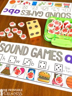 Beginning sounds is an important skill in Kindergarten and early primary classrooms. Stop by and pick up a FREE beginning sounds assessment tool. Plus you'll also find loads of ideas for letter sound practice. Easy and practical activities that require li Alphabet Games For Kindergarten, Fun Classroom Games, Kindergarten Lesson Plans, Teaching The Alphabet, Kindergarten Centers, Learning Letters, Kindergarten Reading, Literacy Centers, Beginning Sounds Kindergarten