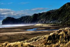 Misty New Zealand Beach