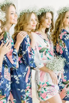 47e0f5faa 8 Best Floral bridesmaid robes images