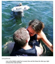 Dolphin proposal (or Porpous proposal?? Say that 5x fast)