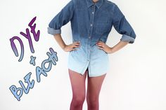 sistersaresassy:      DIY 2013 #1 Color Dyed Stockings and Bleached Denim Polo {OMBRE}  HOW-TO:    Read More