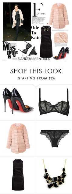 """""""Kate Moss."""" by statisticam ❤ liked on Polyvore featuring Christian Louboutin, Agent Provocateur, Anja, La Perla, Fashion Union, Emi Jewellery, women's clothing, women, female and woman"""