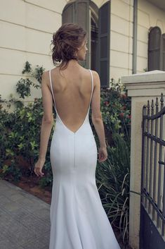 Wedding dresses simple - Strapless chiffon dress a white high slit gown with hips and back – Wedding dresses simple V Neck Wedding Dress, Sexy Wedding Dresses, Long Sleeve Wedding, Designer Wedding Dresses, Bridal Dresses, Wedding Gowns, Sleek Wedding Dress, Bride Dress Simple, After Wedding Dress