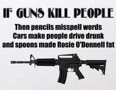 Very true statement above a picture of a Colt AR-15 M4 Carbine.