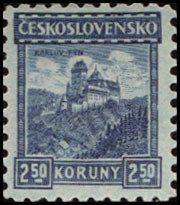 Znaczek: Karlův Týn (Czechosłowacja) (Castles, landscapes and cities) Mi:CS 252,Sn:CS 111,Yt:CS 208,AFA:CS 117,POF:CS 215