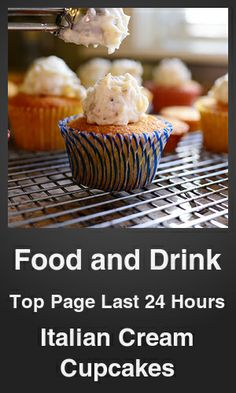 Top Food and Drink link on telezkope.com. With a score of 4205. --- Italian Cream Cupcakes. --- #telezkopefoodanddrink --- Brought to you by telezkope.com - socially ranked goodness