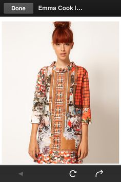 60s patch work dress - asos.