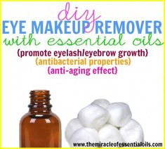 Are you ready to make your own totally easy DIY essential oil eye makeup remover? Read on! Your eye makeup remover can consist of just water and soap or even a dime sized amount of coconut oil. Diy Makeup Remover Coconut Oil, Diy Makeup Remover Wipes, Eye Make-up Remover, Make Up Remover, Gel Eyeliner, Diy Makeup Kit, Makeup Ideas, Makeup Brush, Eye Make Up