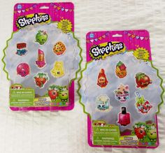 Shopkins Giant Erasers 2 X 7 Packs New in Sealed Package 14 Total Erasers Stationery Set, Shopkins, Moose, Packing, Ebay, Collection, Elk, Bag Packaging, Stationery