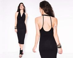 Party Dress / Marcellamoda Black Dress / Little by marcellamoda