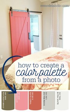 How to create a paint color palette from a photo. 6 free apps that make it easy. Great for decorating a cohesive room and home!