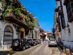 Interior da cidade murada de Cartagena de Indias