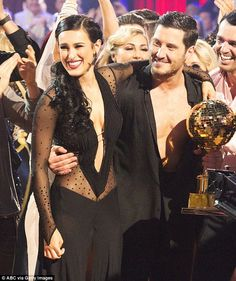 The champs: Rumer Willis and Valentin Chmerkovskiy were congratulated by their costars on Tuesday after being named the winners of season 20 of Dancing With The Stars