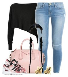 """Untitled #1286"" by lulu-foreva ❤ liked on Polyvore featuring Crea Concept, Frame Denim, Givenchy, Han Cholo and adidas Originals"