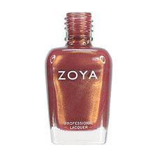 Zoya Nail Polish ZP386  Colette  Brown Nail Polish Metallic Nail Polish