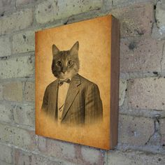 Cat in a Suit Portrait by Kevin Lucius