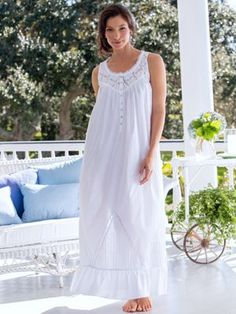 for sleep - Eileen West Long Cotton Nightgown via Vermont Country Store  Moonlight Sonata 7b8f26a38