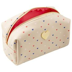 Cosmetic Pouch with Hearts.