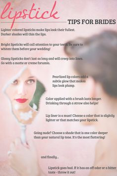 Lipstick Tips for Brides