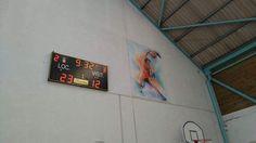 Tableau affichage sportif Bodet BT6025 installé dans le gymnase de Saint-Geours-de-Maremne #Landes #Aquitaine.