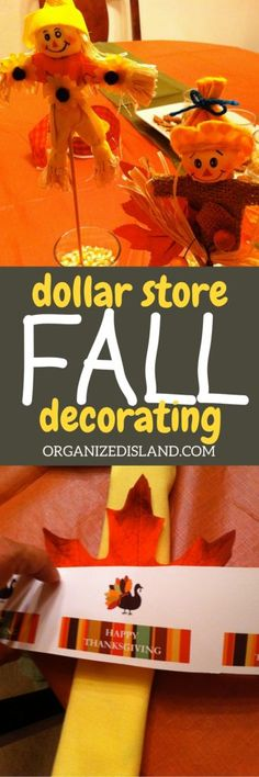 Why spend lots of money decorating for fall? These cheap fall decorating ideas were all from the dollar store!