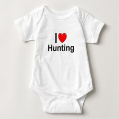 I Love Heart Hunting Baby Bodysuit - love gifts cyo personalize diy