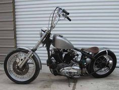 1974 Sportster Bobber with 1000cc Harley Ironhead engine and weld on hardtail frame section