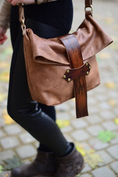 Bag leather crossbody strap with a red – shop online on Livemaster with shipping - Leather Purses, Leather Crossbody, Leather Handbags, Leather Backpack, Leather Wallet, Crossbody Bag, Leather Bags Handmade, Handmade Bags, Crea Cuir