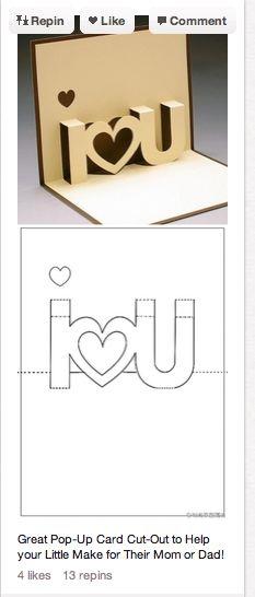 Prepare the romantic DIY Valentine& Day - Valentinstag - Valentine's Day - Valentines Bricolage, Valentines Diy, Valentine Day Gifts, Saint Valentine, Pop Up Valentine Cards, Pinterest Valentines, Cute Crafts, Diy And Crafts, Arts And Crafts