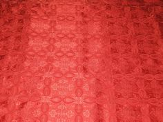 100% Pure Silk Brocade Vestment Fabric Pretty Red color