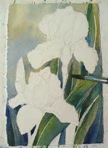 Watercolor painting of irises - Bing Images