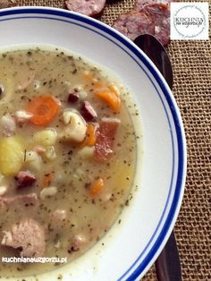 Zupa ziemniaczana to dobra zupa, to pyszna zupa ! Soup Recipes, Healthy Recipes, Polish Recipes, Polish Food, Food Decoration, Soups And Stews, Bon Appetit, Good Food, Food And Drink