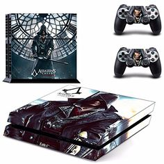 MightyStickers Assassins Creed Killer Rogue PS4 Console Designer Protective Vinyl Skin Decal Cover for Sony PlayStation 4  Remote DualShock 4 Wireless Controller Stickers *** Click on the image for additional details.Note:It is affiliate link to Amazon.
