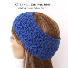 Free Crochet Chevron Ear Warmer Pattern : Crochet ear warmer head band on Pinterest Ear Warmers ...