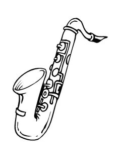 Saxophone Colouring Pages Page