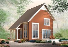 Cabin Traditional Elevation of Plan 76149