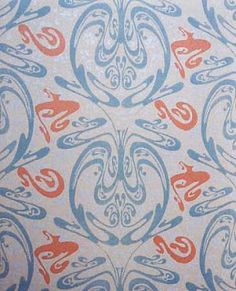 Papier peint pour le Castel Béranger, Guimard