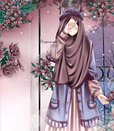 Cute Couple Cartoon, Cute Cartoon Girl, Anime Girl Cute, Hijabi Girl, Girl Hijab, Muslim Pictures, Islamic Cartoon, Hijab Cartoon, Islamic Girl