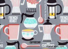 Grey French Roast Fabric