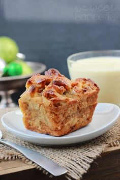 Eggnog Bread Pudding | One Sweet Appetite Leftover cinnamon rolls or cinnamon-swirl bread? Eggnog? Christmas morning? Yes.