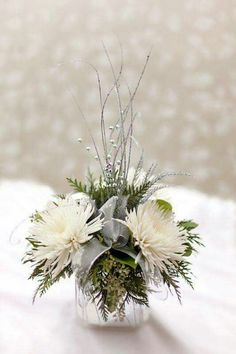 Winter Wedding arrangement.