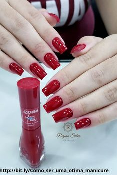 Pedicure ideas red polish manicures Ideas for 2019 Red Manicure, Red Nails, Manicure And Pedicure, Pedicure Ideas, Pretty Nail Colors, Pretty Nails, Nail Paint Shades, Square Oval Nails, Luxury Nails